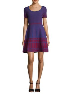 Intarsia Knit Fit And Flare Dress by Diane von Furstenberg at Gilt