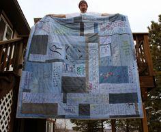 Fawson Farm: A Tattoo Denim Quilt I made this denim quilt for o...