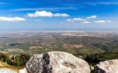 Panorâmica do Miradouro da Foia, Serra de Monchique, Algarve, Portugal