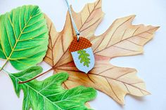 Acorn Terrarium Necklace . Hand painted Necklace by Whimsy Milieu