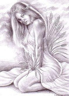 Pencil Drawings of Fallen Angels | Thw innocent Kore