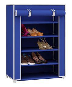 Look what I found on #zulily! Blue Sunbeam Five-Tier Shoe Closet #zulilyfinds
