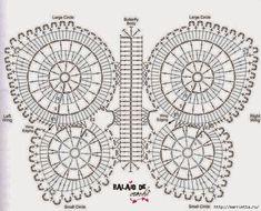 БАБОЧКА - коврик крючком (2) (699x564, 312Kb)