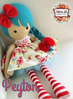 Felt and fabric doll, inspo