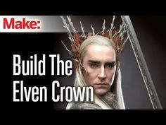 The Hobbit: Build Thranduils badass Elven crown. Klaire De Lys shows us how to recreate the Thranduil crown from The Hobbit. Using a few simple tools and materials you too can rule over the Woodland Realm (Or at least look like it) Learn more here: . Cosplay Tutorial, Cosplay Diy, Cosplay Dress, Geek Crafts, Fun Crafts, Merman Costume, Thranduil Cosplay, Diy Crown, Fantasy Costumes