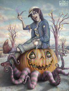 Jim McKenzie Art #Tentacles #Pumpkin #halloween