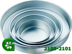 Wilton item number 2105-2101. Visit www.GalesWholesale.com for more information. Performance Performance Round 4pc Cake Pan SetCake. Set includes 6, 8, 10, 12 in. pans. Quality aluminum holds its shape for years. Each pan is 2 in. deep.A heating core (stock # 417-6100) is recommended for 10-inch diameter or larger pan.