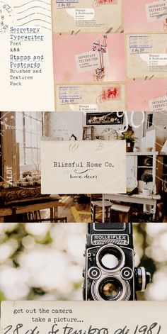 This bundle includes: a timeless typewriter font and a set of vintage textures and stamps. Plus a little bonus! Secretary is a typewriter font in a lighter, softer weight that makes it perfect for designs such as digital collages, branding, packaging, social media, logotypes. Sourced from authentic vintage material, the Stamps and Paper set includes 12 high resolution paper scans and 40 stamps and scribbles. Perfect to add a retro look to your designs. #vintagedesign #typewriter… Texture Packs, Brush Font, Photoshop Brushes, Your Design, Design Design, Digital Collage, Typewriter, Vintage Suitcases, Vintage Luggage