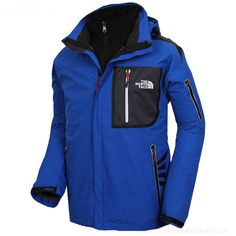 Mens North Face Triclimate Jackets Blue