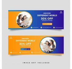 Creative travel banner template collecti...   Premium Vector #Freepik #vector #frame #travel #books #blue Banner Design Inspiration, Best Banner Design, Packaging Design Inspiration, Sales Template, Free Banner Templates, Design Templates, Flyer Template, Travel Ads, Travel Books