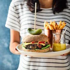 Lucy Watson's ultimate vegan cheeseburger