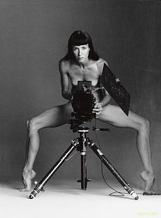 Sylvie Guillem self portrait, ballerina and photographer, born in Paris in 1965 become the youngest ballerina at age 16 for the Paris Opera Ballet.