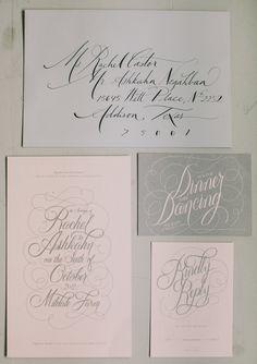 Elegant script wedding invitation | Steven Michael Photo | 100 Layer Cake