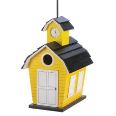 School House Birdhouse. Starting at $7 on Tophatter.com!
