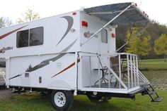 TrailManor TrailMini folding travel trailer exterior-love the porch