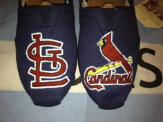 St Louis Cardinals Inspired Custom TOMS by UniquelySouledDesign, $94.00