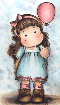 Tarjeta scrapbook de Tilda Magnolia | Dibujos de Colores