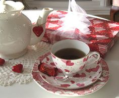 Rose Chintz Cottage Valentine's Day Tea Time