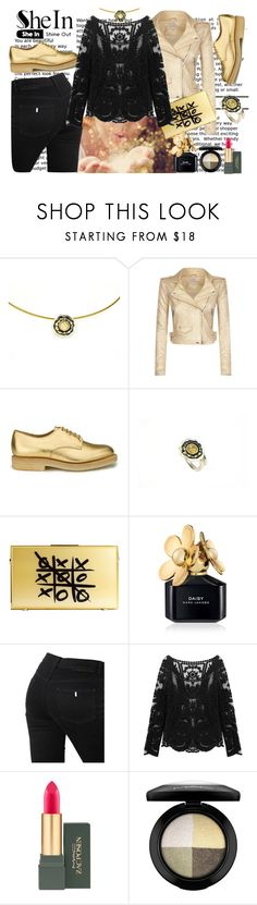 """""""Black gold"""" by giampourasjewel ❤ liked on Polyvore featuring IRO, YMC, Marc Jacobs, STELLA McCARTNEY and MAC Cosmetics"""