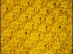 Knit Star Stitch - YouTube ▌This stitch seems to create an interesting diagonal pattern with a lot of texture.