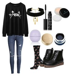 """""""Chairman Meow"""" by just-another-vain-person ❤ liked on Polyvore featuring HOT SOX, Stila, Topshop, Suzywan DELUXE, H&M, Vincent Longo and NARS Cosmetics"""