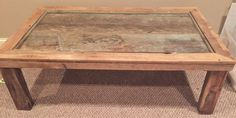 Reclaimed Farmhouse Barnwood Coffee Table by Southerncharmwoodwrk