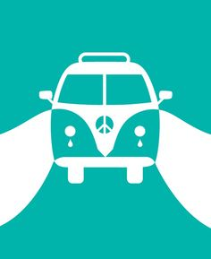 VW and Peace by trendworms, Minimal art.