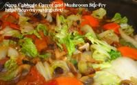 Napa Cabbage, Carrot and Mushroom Stir-Fry