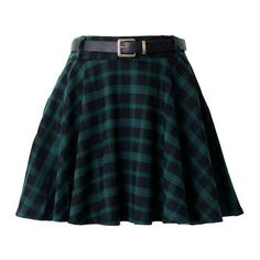 Skater Skirts ❤ liked on Polyvore featuring skirts, plaid skater skirt, flared skirts, blue tartan skirt, tartan skirt and plaid circle skirt