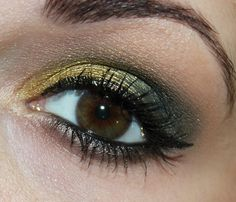 green gold eye make up http://www.talasia.de/2013/12/12/green-zoeva-metallic-stones-make-up/ #eyemakeup #eotd #zoeva