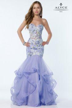 Alyce Paris 6807 Ruffle Mermaid Prom Dress