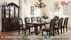 Meja Makan Minimalis Klasik Jati Natural Best Product Quality TTJ-0925