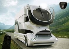 What do you make of this RV? Certainly going to turn heads. Expect the price tag to match the looks!  The 38-foot-long, 13.5-foot-tall RV boasts around 500 square feet of usable interior area - that's more than some apartments!  --- Follow us on Facebook & Twitter: http://www.facebook.com/pilkingtonglass & http://twitter.com/#!/pilkingtonglass
