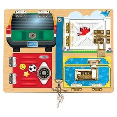 Melissa & Doug® Locks and Latches Board Wooden Educational Toy : Target