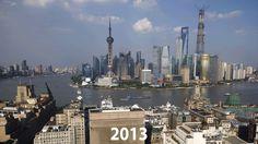 26 años de brutal transformación de Shanghái, en sólo dos imágenes