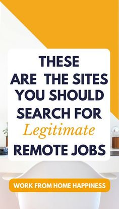 Need a #workfromhome job? These are the sites you should search for legitimate leads. Listed are 19 free sites that can help you find a #workathome job today.