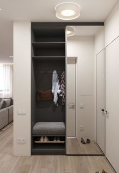 Idee Interior design - Ingresso Entrance ideas, home decor Closet Mirror, Hallway Closet, Sliding Closet Doors, Master Closet, Mirror Door, Home Entrance Decor, Entrance Design, Hall Design, House Entrance