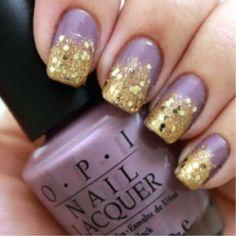 Purple & Gold #nailart
