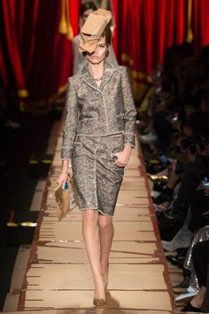 Runway #style #MFW Fall17: Moschino unpacks her, flattens her, and recycles her