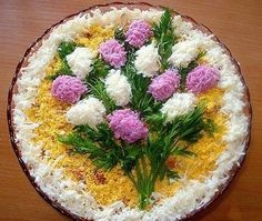 salad decoration - edible flowers