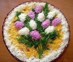 salad decoration - edible flowers