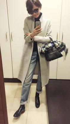 五明祐子オフィシャルブログ 『オキラクDays』Powered by Ameba Chic Outfits, Trendy Outfits, Fashion Outfits, Fashion Over 50, Work Fashion, Unisex Fashion, Womens Fashion, Mode Simple, Scandinavian Fashion