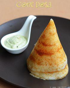 How to make cone dosa-Rak's Kitchen