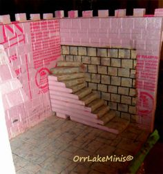 HOW TO BUILD A CASTLE: 18. here you can see how the interior of my stairwell looks
