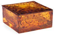 One Kings Lane - The Refined Vanity - Tortoise Shell Box, Large