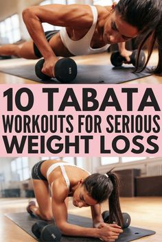 Tabata Workouts For Beginners: 10 Workouts For Serious Weight Loss Tabata workouts consist of 4 minutes of high intensity, fat-burning cardio exercises that will give you serious results. With 20 seconds of intense exercise. Fitness Workouts, Fitness Motivation, Fitness Routines, Sport Fitness, Yoga Fitness, Health Fitness, Full Body Workouts, Exercise Routines, Weight Workouts