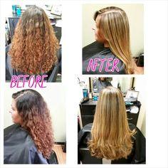 Fullhighlight, haircut & keratin treatment done by myself, Rebecca Gonzalez @ Simply Chic Beauty Salon.