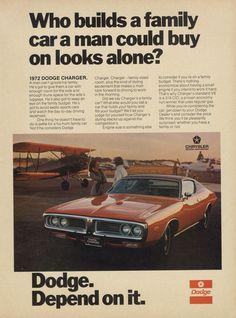 1972 Dodge Charger Muscle Car Vintage Magazine by AdVintageCom
