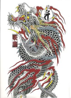 Discover recipes, home ideas, style inspiration and other ideas to try. Dragon Tattoo Full Back, Dragon Tattoo Chest, Dragon Tattoos For Men, Japanese Snake Tattoo, Japanese Dragon Tattoos, Gold Tattoo Ink, Diy Tattoo, Tattoo Arm, Dragon Tattoo Artist
