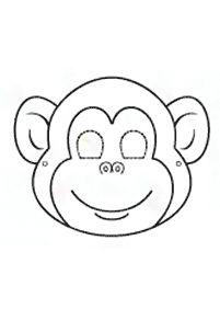 Topeng untuk kanak-kanak – Topeng 11 Animal Masks For Kids, Mask For Kids, Printable Masks, Printables, Printable Templates, Free Printable, Monkey Mask, Monkey Crafts, Monkey Birthday Parties